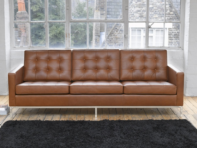 Knoll Sofa In Vintage Leather